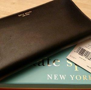 NWT Kate Spade Jane Street Neda Wallet Black